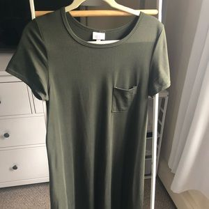 XS Army/Olive green LuLaRoe Carly dress